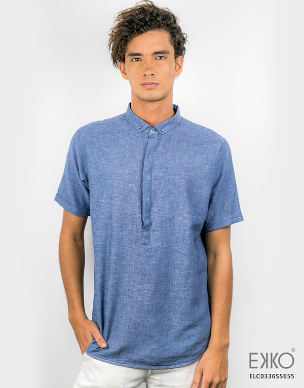 Linen Cotton Short Sleeve Shirt MELC0336SS