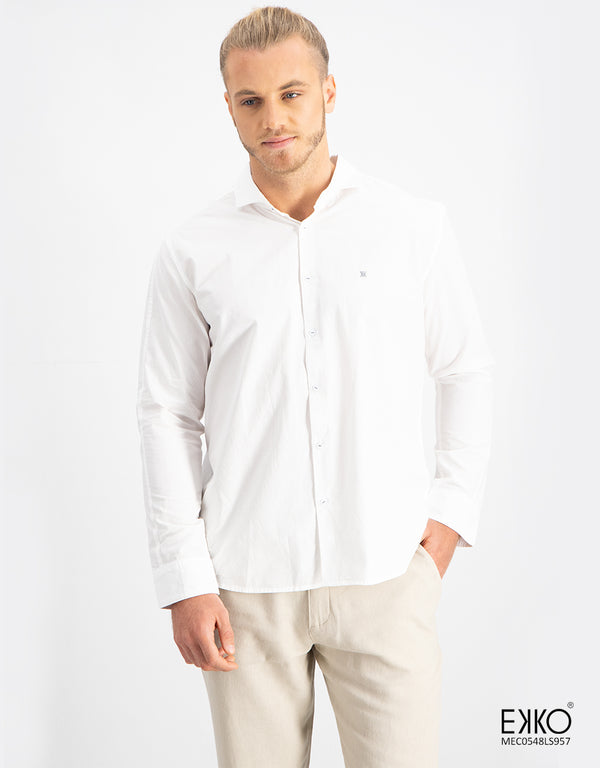 Cotton Long Sleeve Shirt - MEC0548LS957