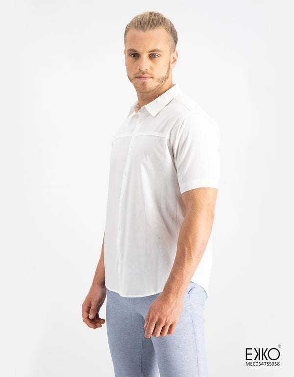 Cotton Short Sleeve Shirt - MEC0547SS958
