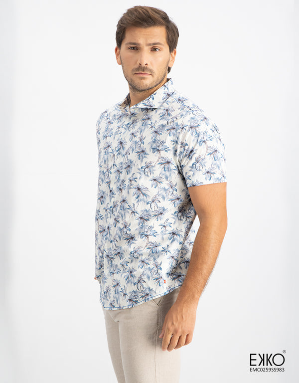Cotton Short Sleeve Shirt - EMC0259SS