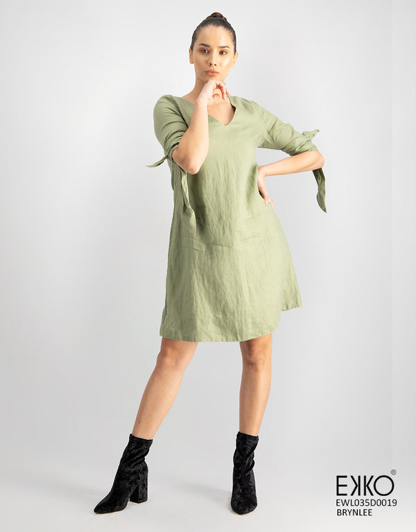 Brynlee Dress - 100% Linen