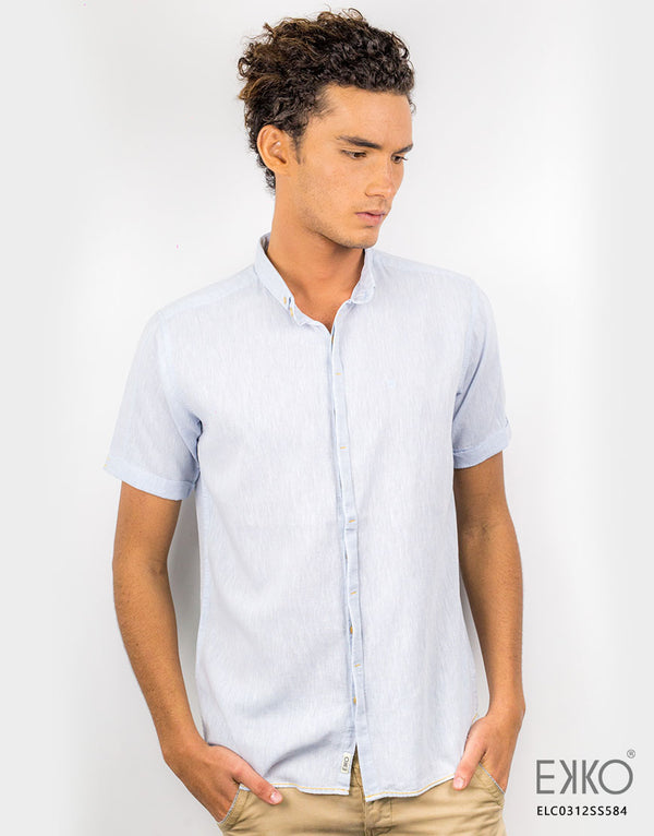 Linen Cotton Short Sleeve Shirt - ELC0312SS