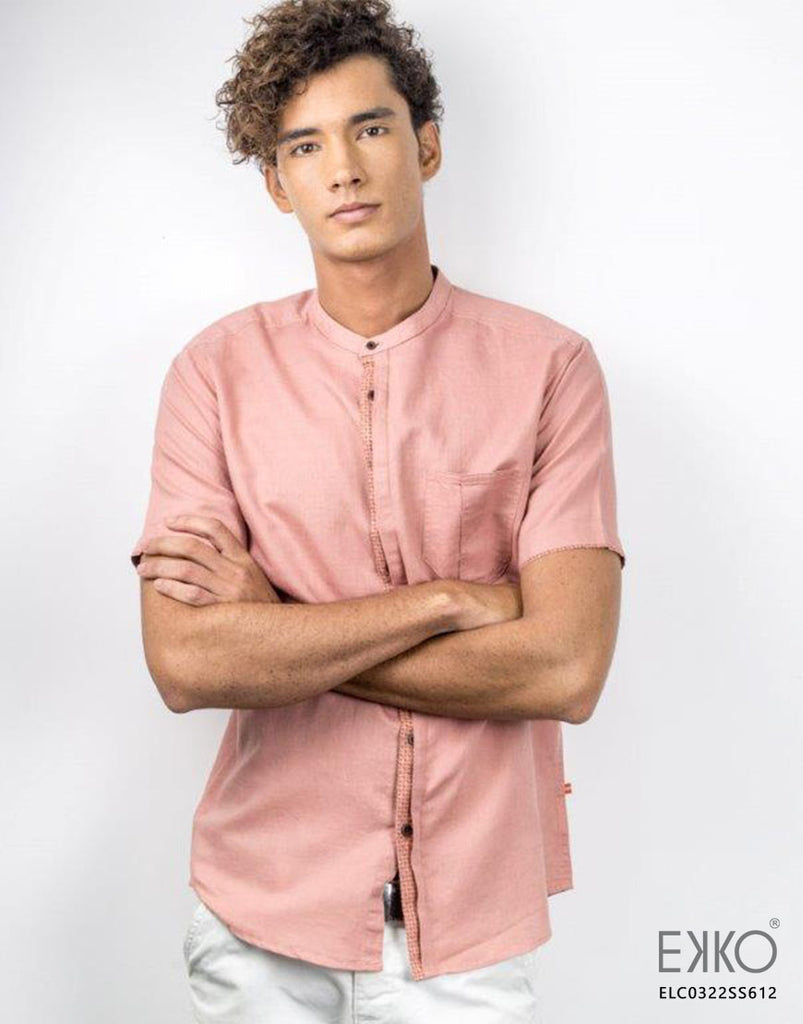 Linen Cotton Short Sleeve Shirt  MELC0322SS