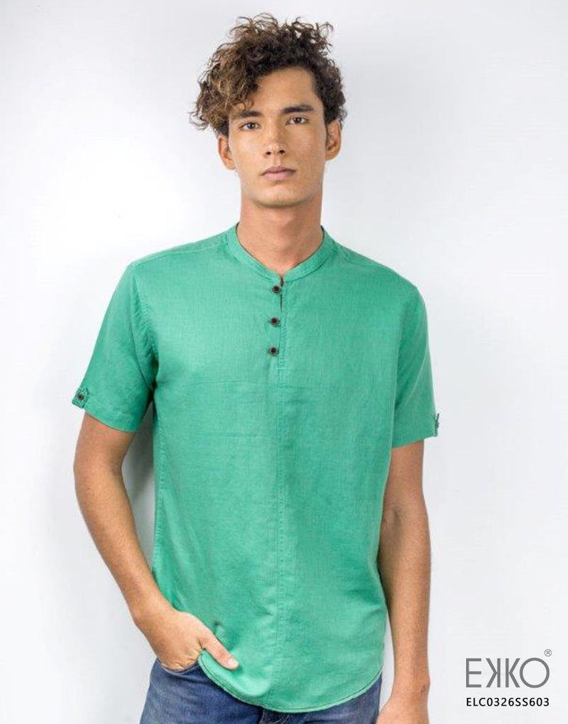 Linen Cotton Short Sleeve Shirt - ELC0326SS