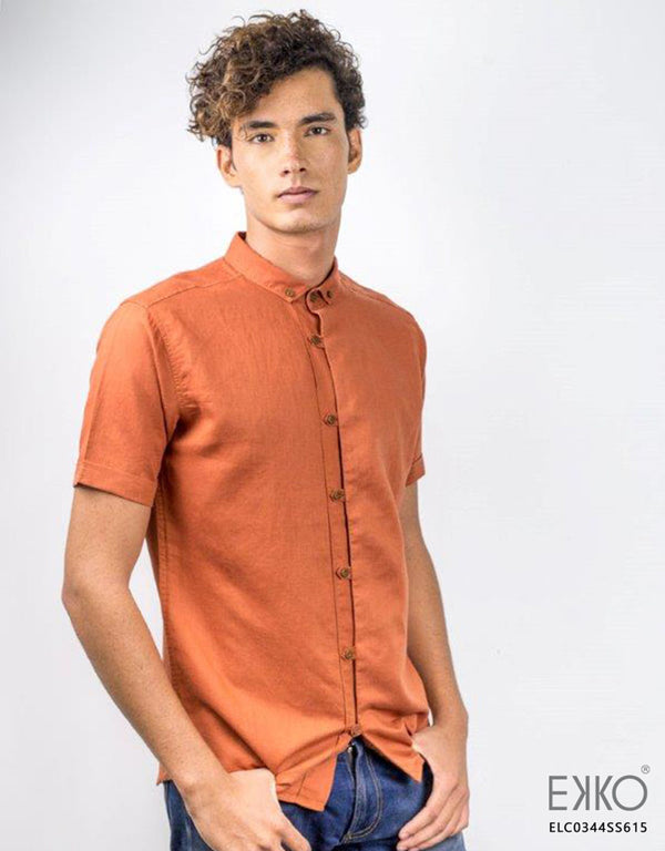 Linen Cotton Short Sleeve Shirt ELC0344SS