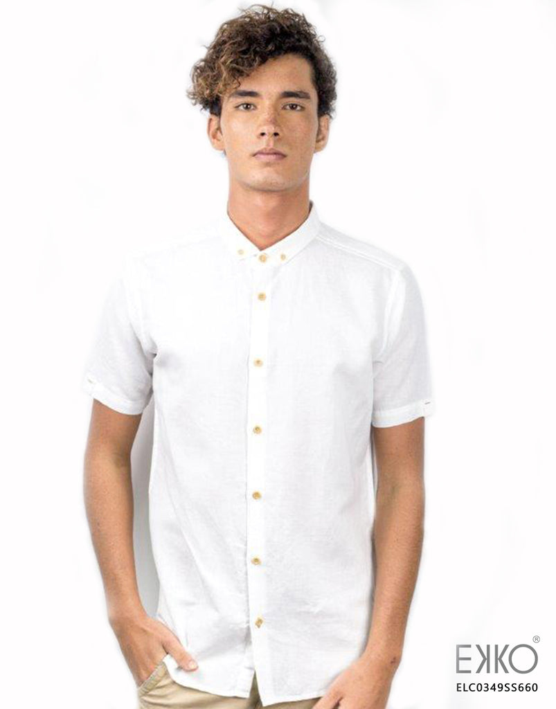 Linen Cotton Short Sleeve Shirt MELC0349SS