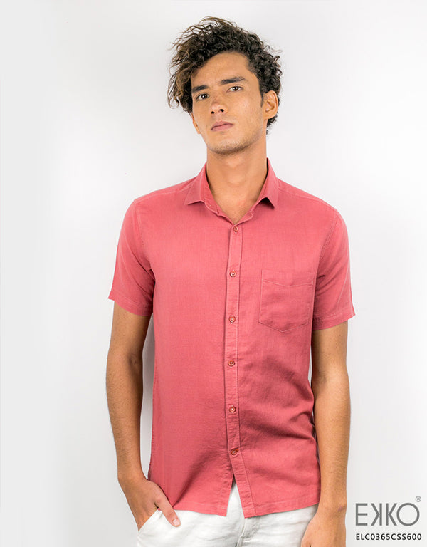 Linen Cotton Short Sleeve Shirt ELC0365CSS