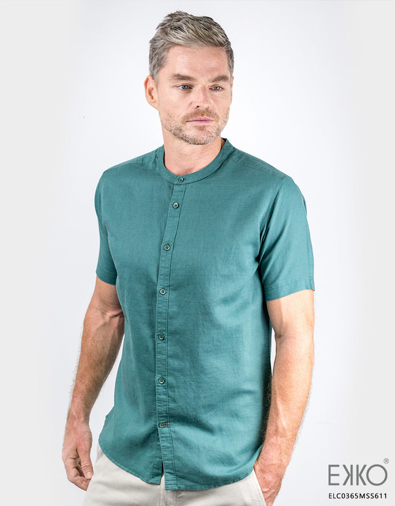 Linen Cotton Short Sleeve Shirt ELC0365MSS