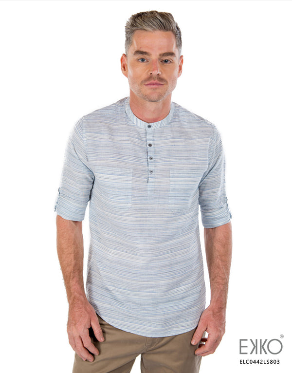 Linen Cotton Roll-Up Shirt - ELC0442LS