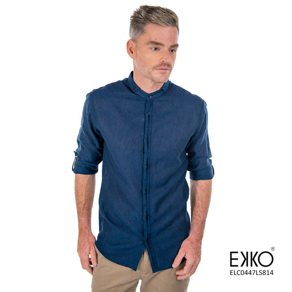 Linen Cotton Roll-Up Shirt - ELC0447LS