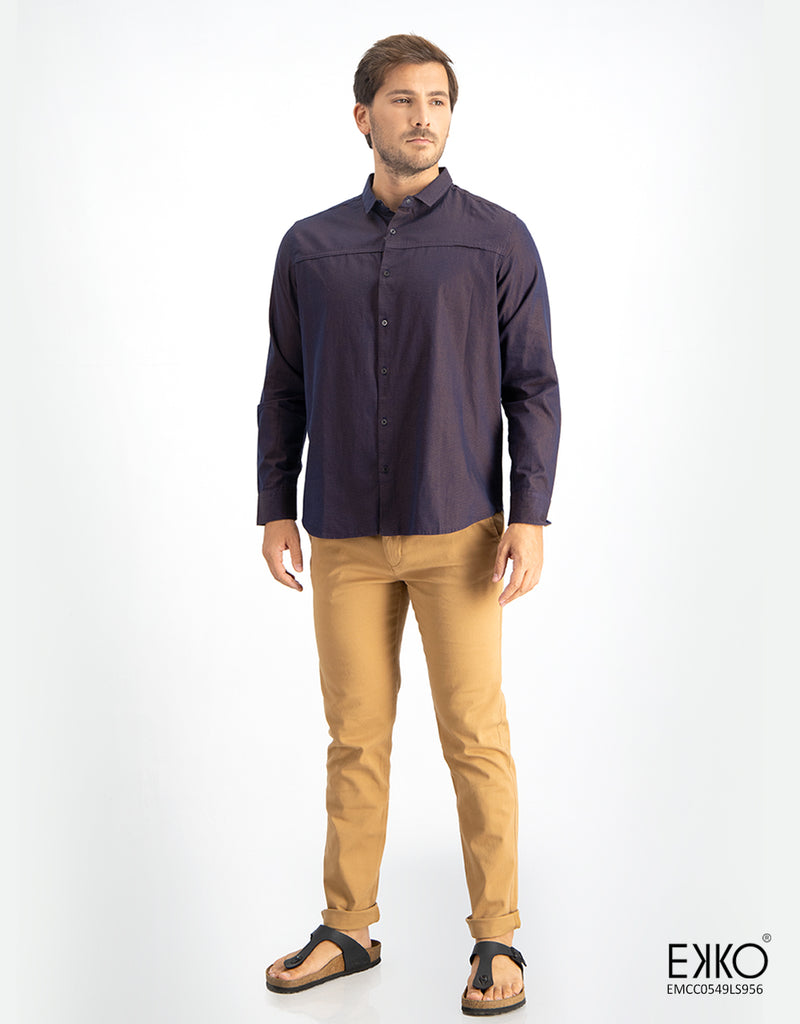 Cotton Long Sleeve Shirt - EMCC0549SLS