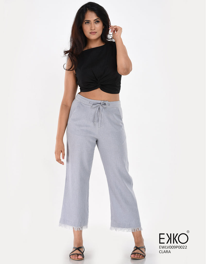 Ladies Pants in Sri Lanka | Clara Pant - Linen Blend | ekko.style