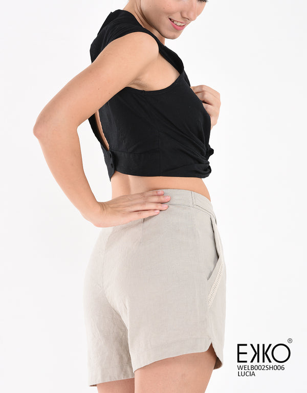 Lucia Shorts - Shorts for Women in Sri Lanka | Buy Online Clothes in Colombo | EKKO One Galle Face Mall Colombo 2
