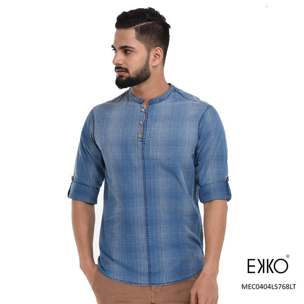 Cotton Roll-up Shirt MEC0404LS