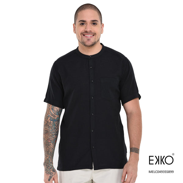 Short Sleeve Shirt | Black Shirt | EKKO Shirt
