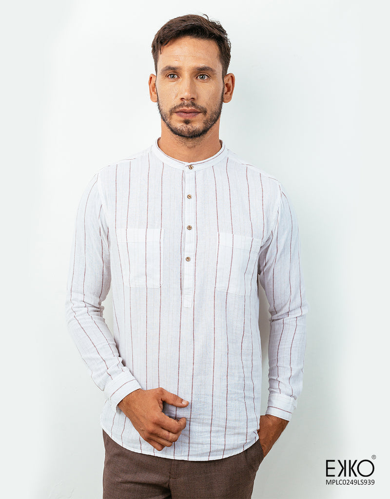 Linen-Cotton Long Sleeve Shirt MPLC0249LS