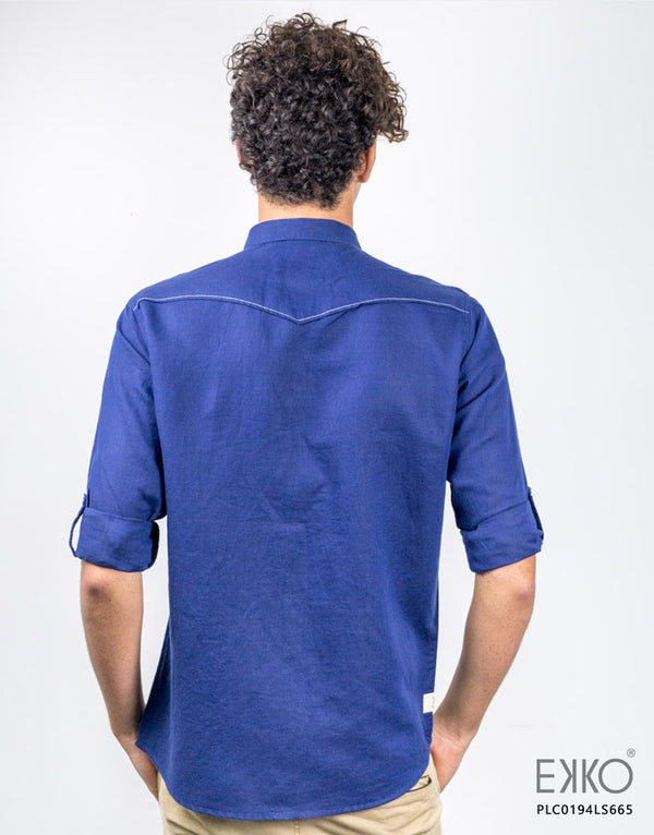 Linen Cotton Roll-Up Shirt - PLC0194LS