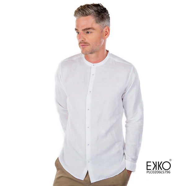 Linen Cotton Long Sleeve Shirt - PLC0206LS