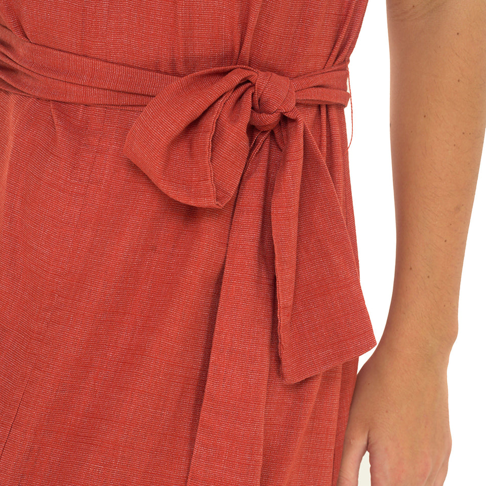 Hazel Halter Neck Dress - Linen Blend