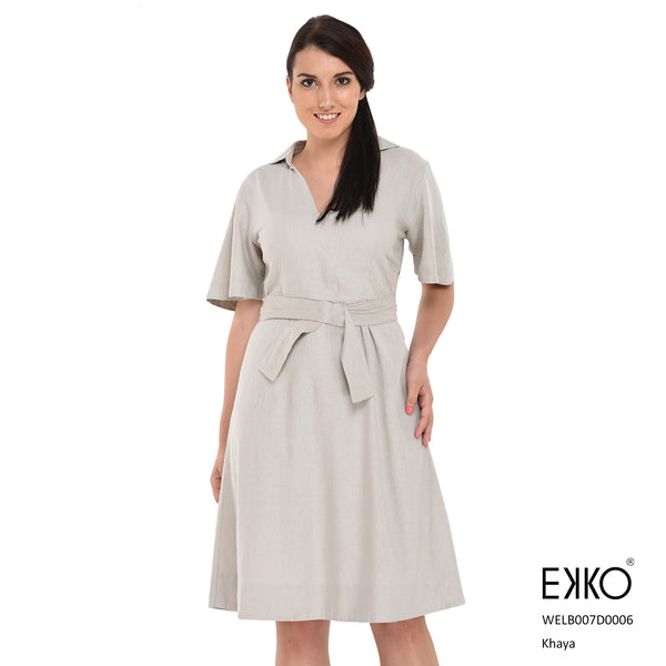 Khaya Mid Dress - Linen Blend