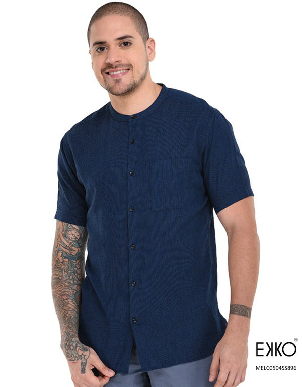 Linen Cotton Short Sleeve Shirt MELC0504SS