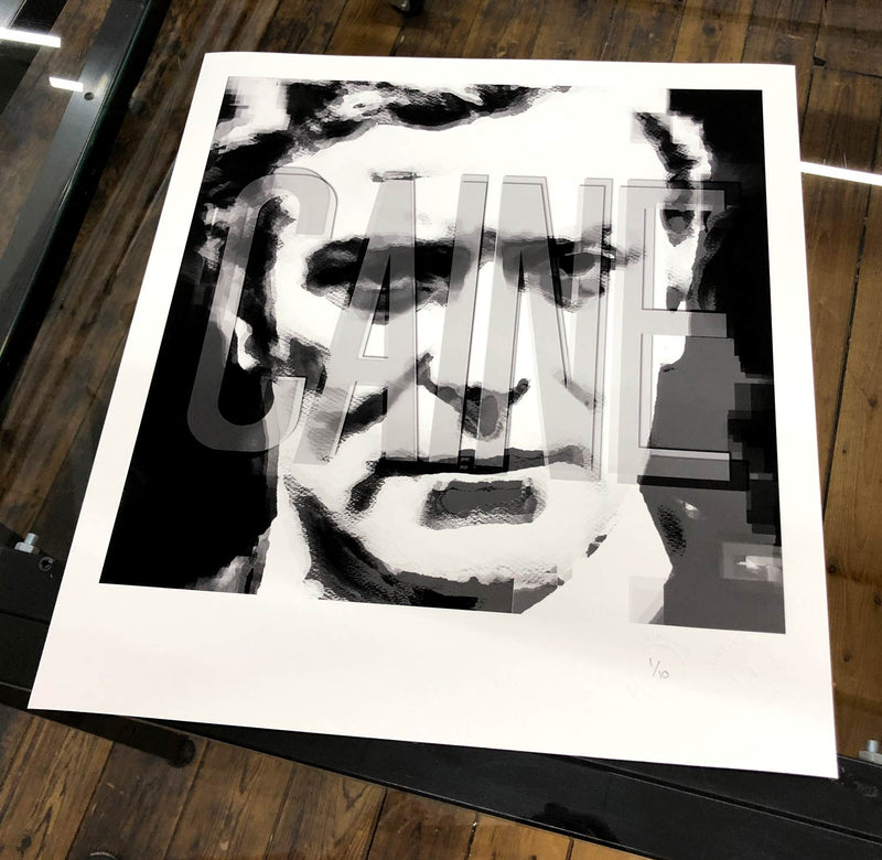 Michael Caine (Chrome Edition) - Print<br>(ICONS Collection)
