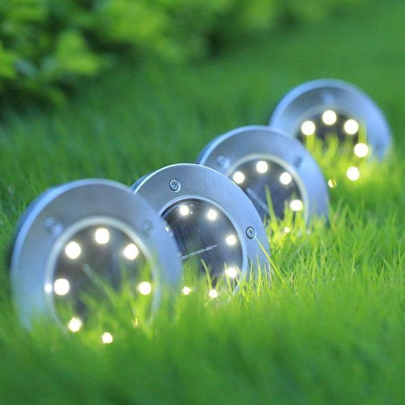 8 LED Solar Disk Lights(The more the cheaper)