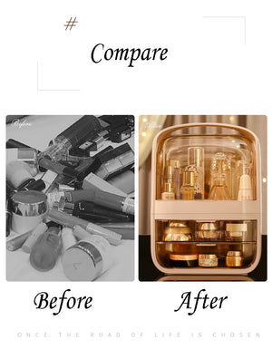 Space capsule cosmetic storage box