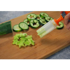 A1 Creative Plastic Fruit Shape Cutter Slicer Veggie Food Decoration(50% OFF! Today)