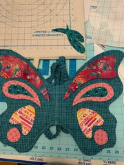 butterfly wings sewing project fabric placement