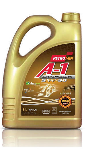 Petromin A-1 Super Synthetic Oil SAE 5W30 SN, Huile moteur 5L