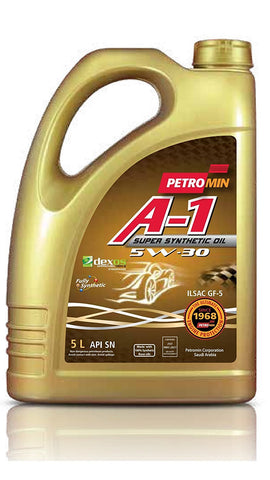 Image of Petromin A-1 Super Synthetic Oil SAE 5W30 SN, Huile moteur 5L