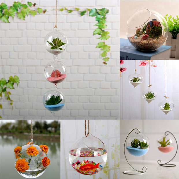 Transparent Hanging Vase