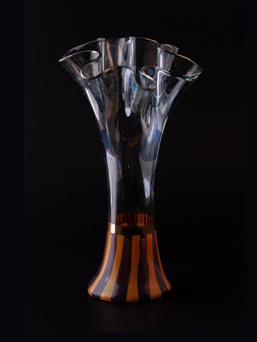 MacKenzie-Childs Glass Vase