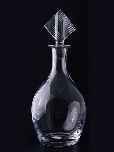 "Modern Art Deco ""Daum"" Crystal Decanter"