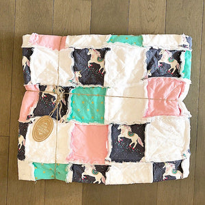 Modern Rag Quilt- The Lux