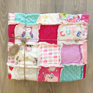Custom Throw Size Memory Rag Quilt