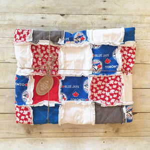 Modern Blue Jays Rag Quilt - The Jay