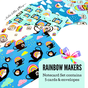 WE ARE THE RAINBOW MAKERS Notecard Set