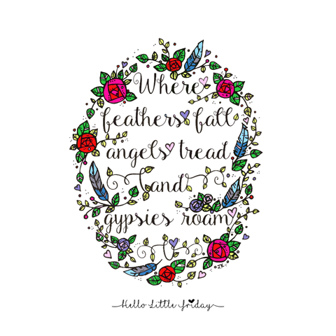 Where feathers fall Art Print