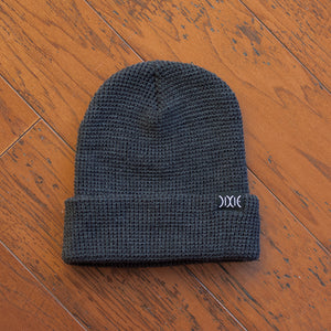 Dixie Waffle Beanie - Heather Charcoal