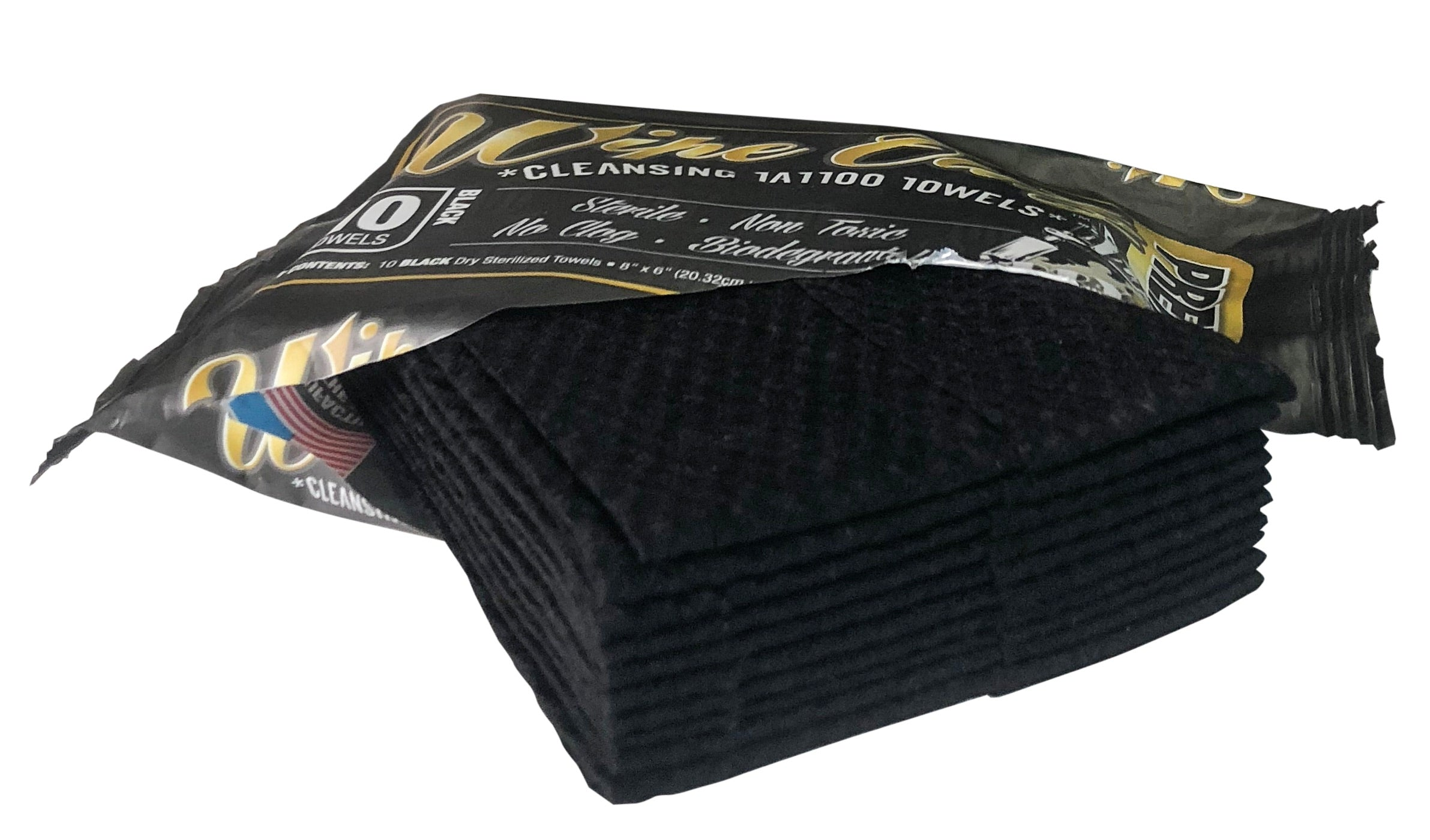 Wipe Outz Premium Tattoo Towels. Dry-Black (48 Packs X $2.75)