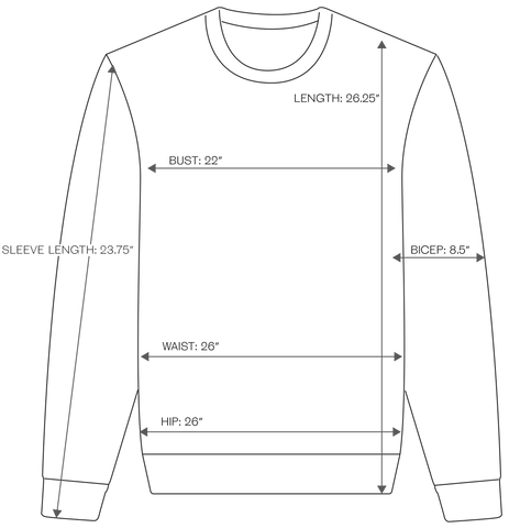 PULLOVER SIZING IMAGE