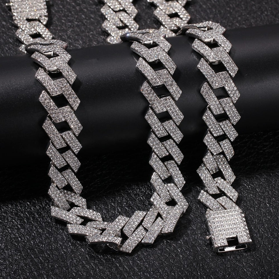 20MM PRONG CUBAN CHAIN & BRACELET