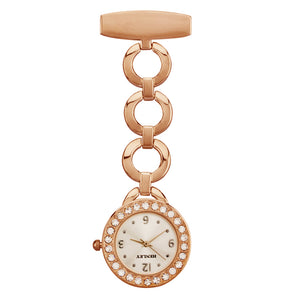 Open Link Nurses Fob Watch - Rose Gold