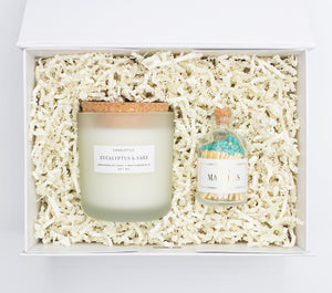 Botanical Candle & Matches Gift Set