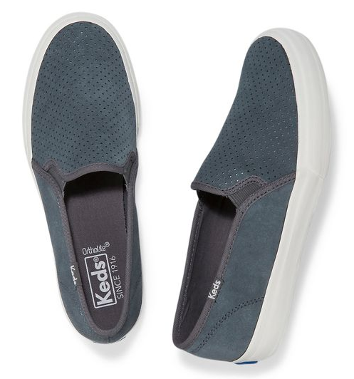 WOMEN'S KEDS DOUBLE DECKER PERF SUEDE CASUAL SHOES
