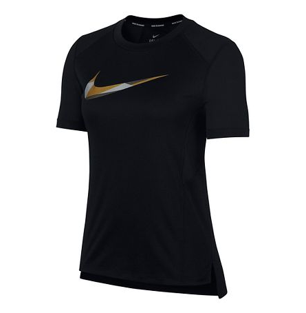 WOMEN'S NIKE MILER METALLIC SHORT SLEEVE