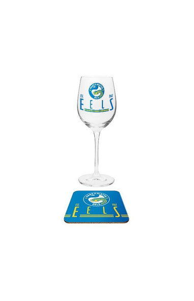 Parramatta Eels Wine & Coaster Set