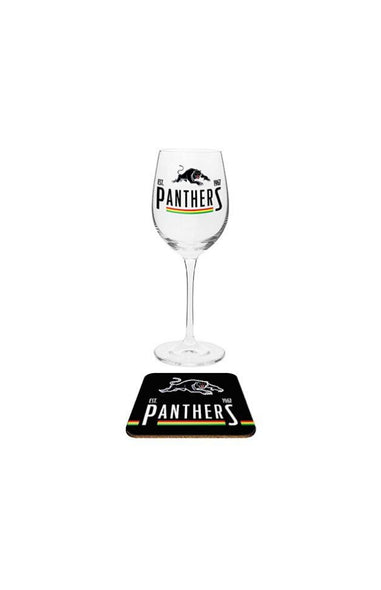 Penrith Panthers Wine & Coaster Set